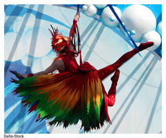 Blue Horizon Bird Woman.01 by Della-Stock