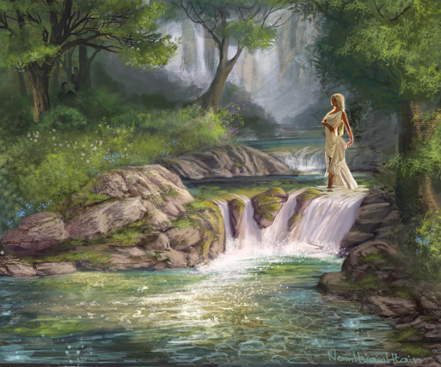 Water Nymphs Painting