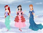 Disney princess-Ariel, Melody and Athena