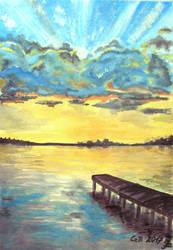 Masuria 18 - sunset by czarownicazbagien