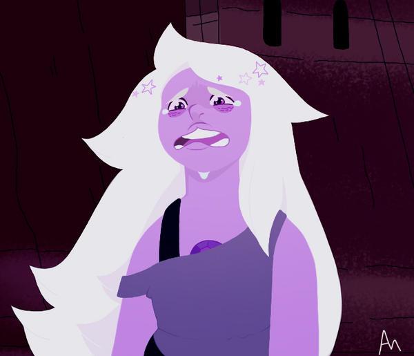 purple mom is sad by ilovehg