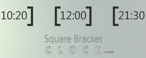 Square Bracket Clock Concept