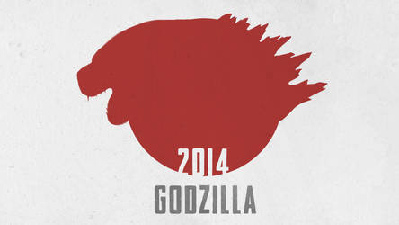 Godzilla 2014 minimal poster