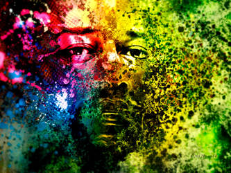 splattering in color by roup14