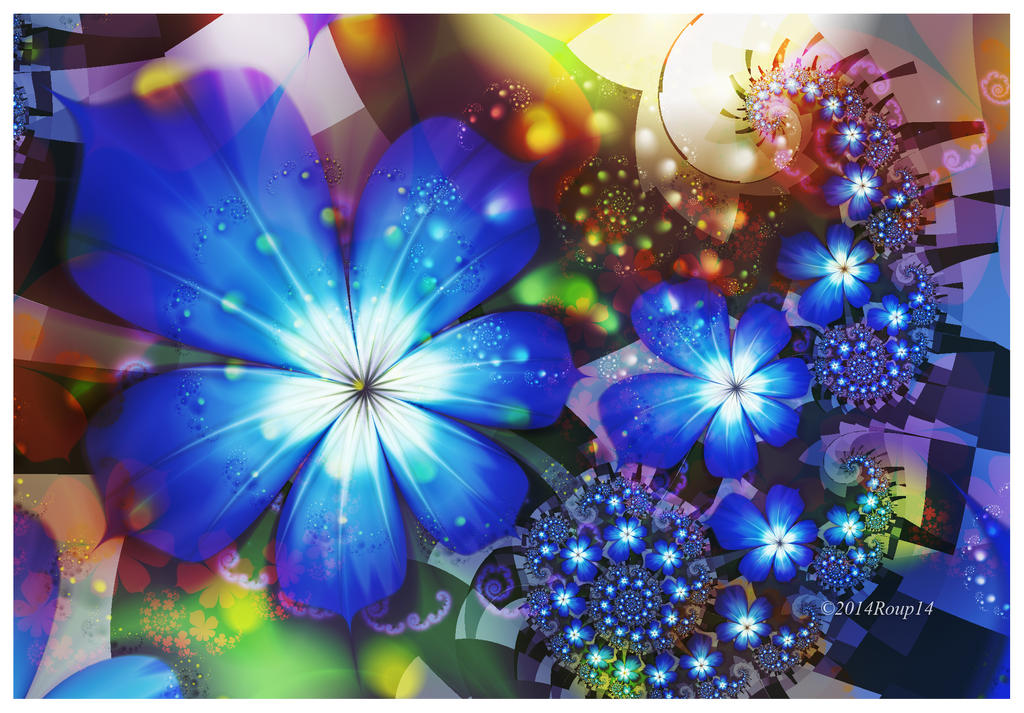 Dreamy Blue flower by roup14