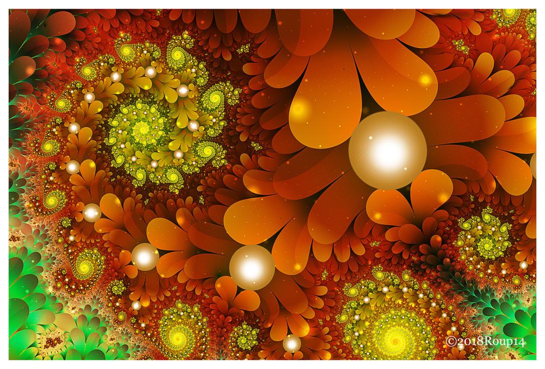 Magical Orange Fern by roup14