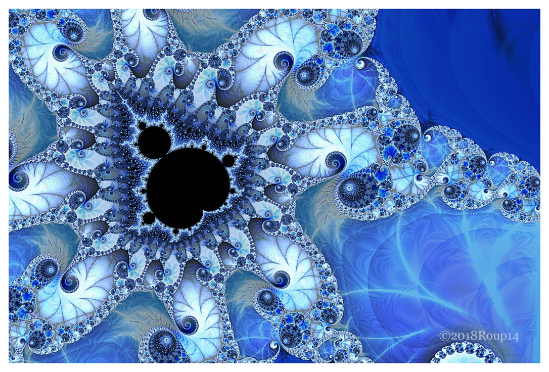 Blue Mandelbrot by roup14