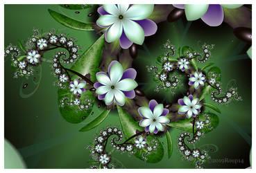 Wild purple flower trail