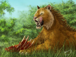 Saber-toothed tiger by Azany
