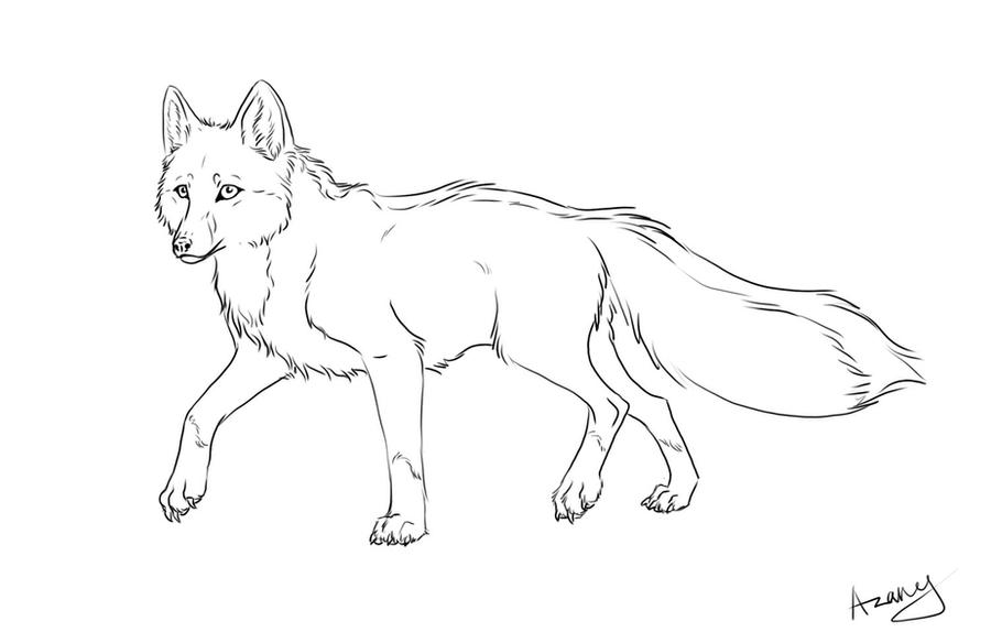 Line Drawing Fox : Fox line art by azany on deviantart