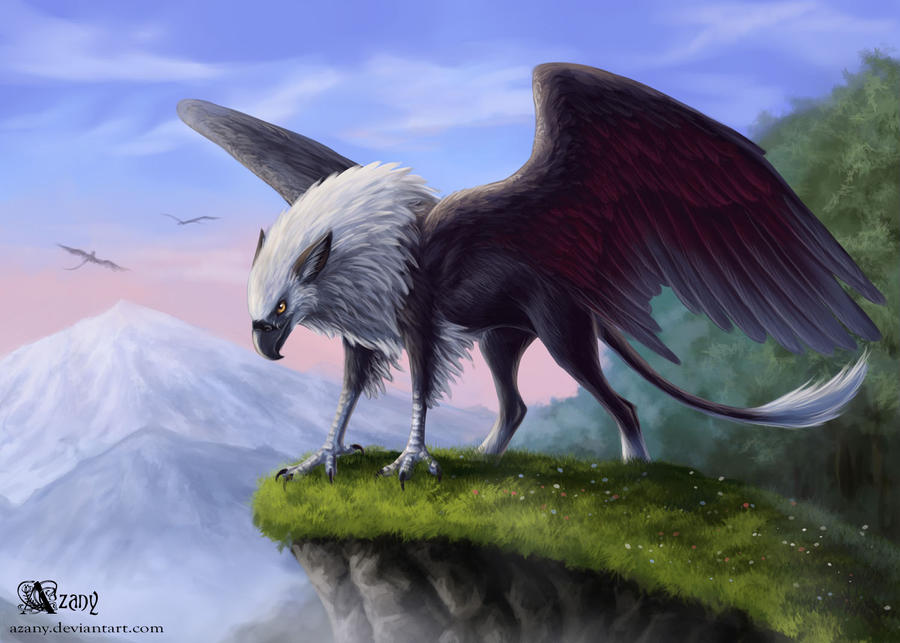 Griffin dawn by Azany