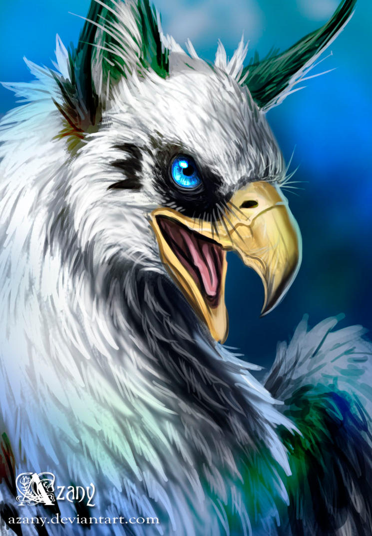 Griffin in blue by azany on deviantart for The griffin