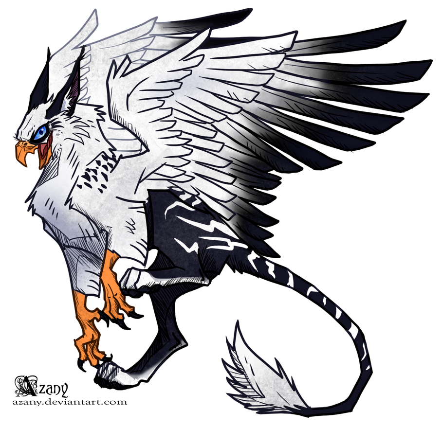 White griffin by azany on deviantart for The griffin