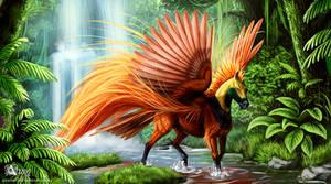Raggiana horse of paradise