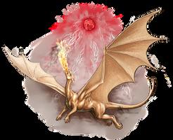 Bronze dragon of Pern by Azany