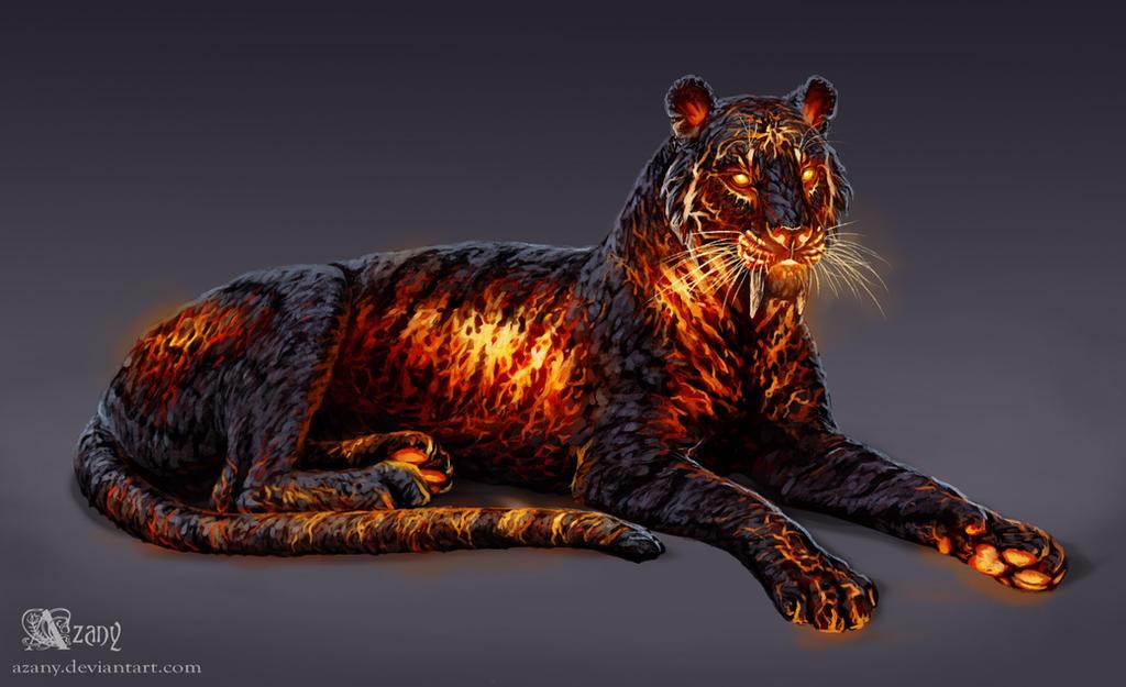 Timba The Lava Tiger By Azany On Deviantart