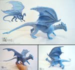 Needle felted Pernese dragon