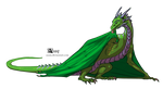 Green Westeros dragon by Azany