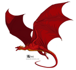 Red Westeros dragon by Azany