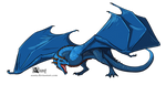 Blue Westeros dragon by Azany