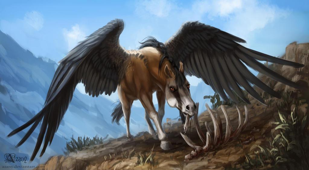 Bearded vulture pegasus by Azany on DeviantArt