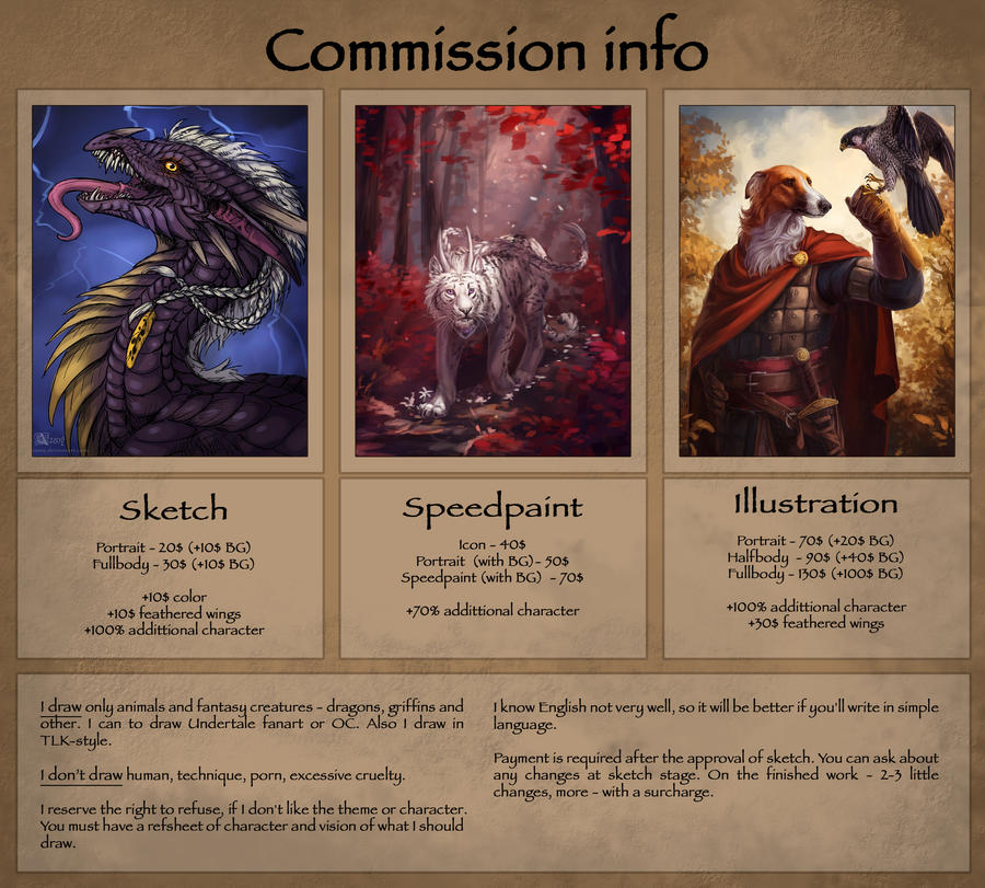 Commission info