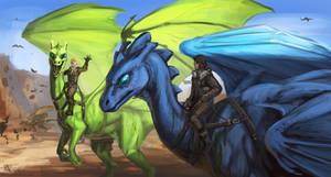Dragonriders by Azany