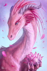 Lotus Dragon by Azany