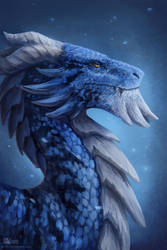 Blue dragon by Azany