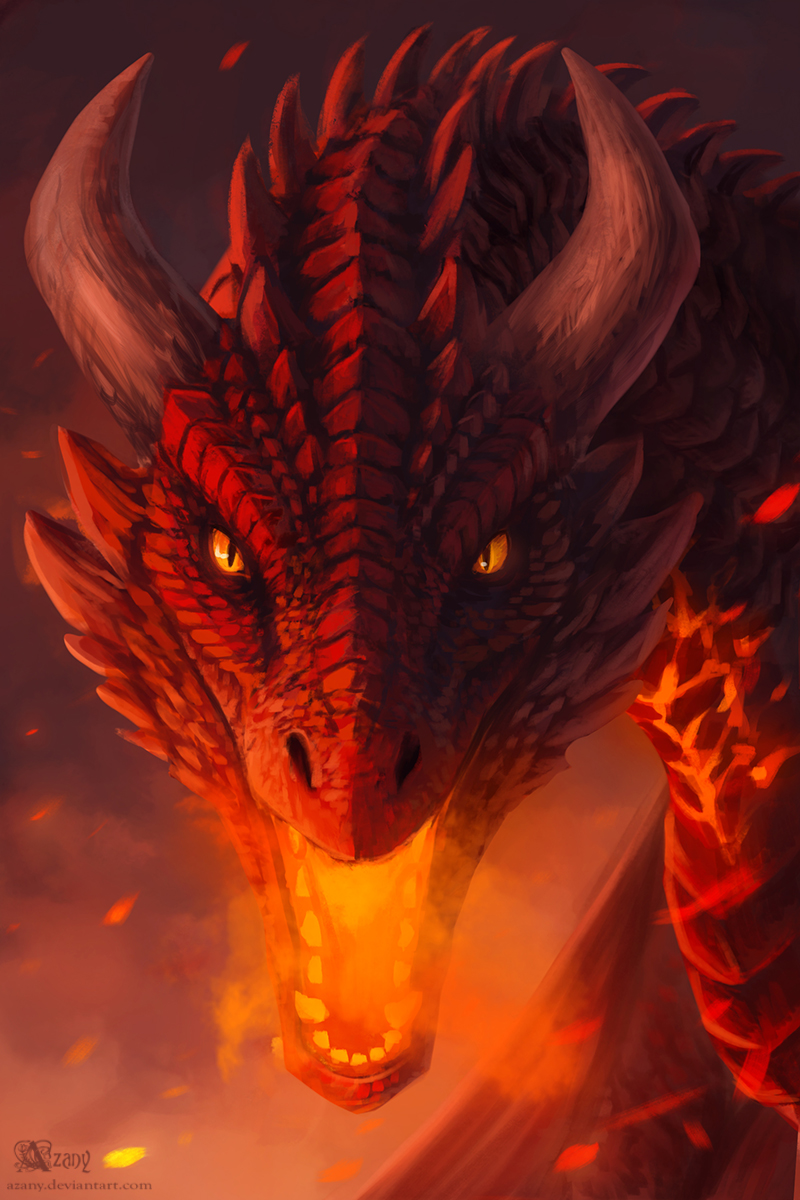 Red dragon by Azany on DeviantArt