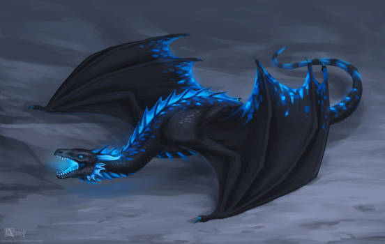 Black and blue dragon