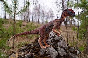 Dilophosaurus Art Doll - SOLD