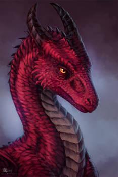Burgundy dragon