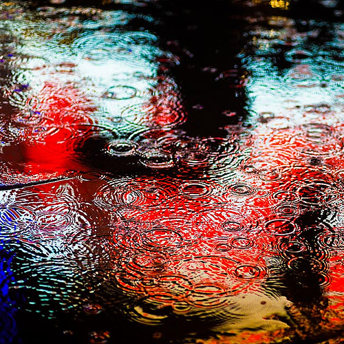 Rain in Puddle by christafaith