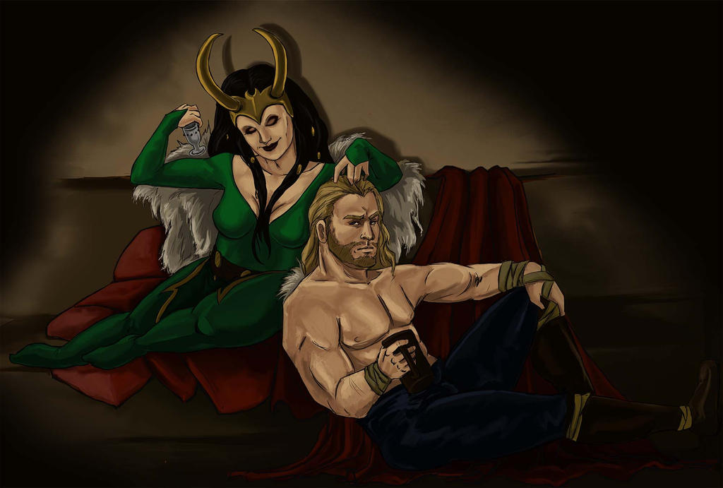 Lady Loki And Thor by the-infamous-padfoot