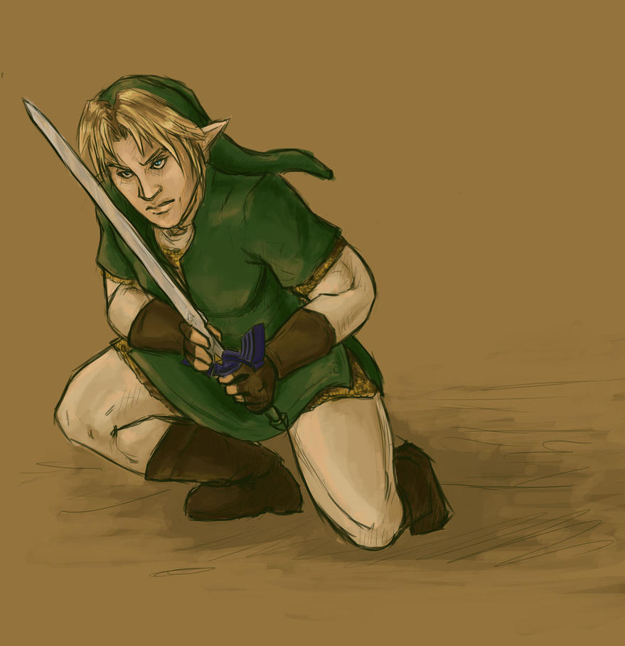 Photoshop sketch book: Link by the-infamous-padfoot