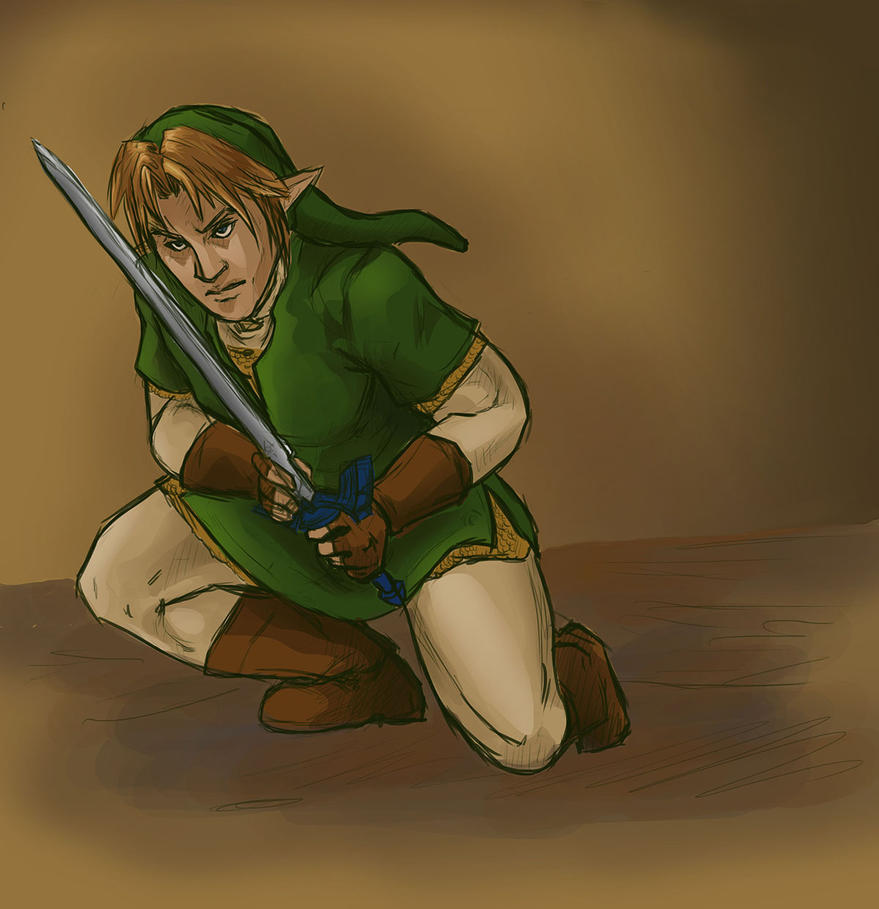 Photoshop sketch book: Link REPAINT by the-infamous-padfoot