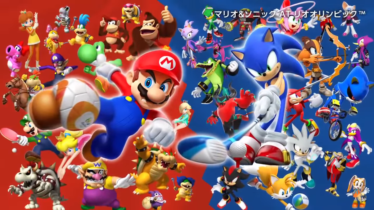 Mario and Sonic Rio 2016 Olympics ALL CHARACTERS!! by ...