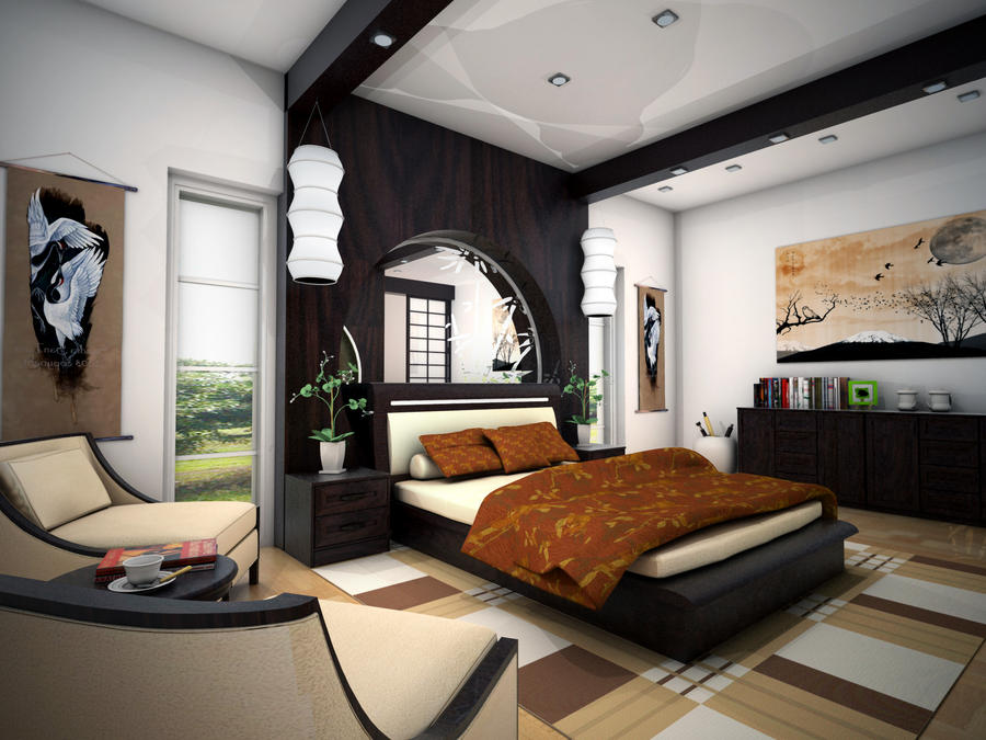 Zen bedroom concept view 01 by arkiden124 on deviantart Zen bedroom ideas