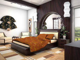 Zen Bedroom Concept _view 02 by arkiden124
