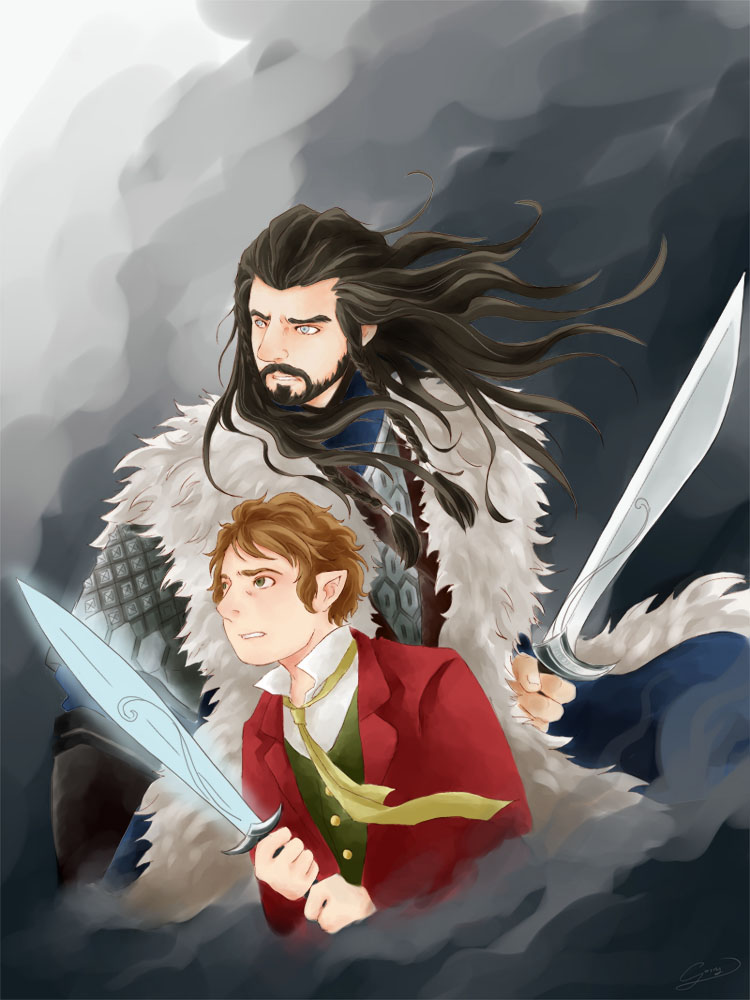 The Hobbit-Thorin/Bilbo: Fight Together by GorryBear