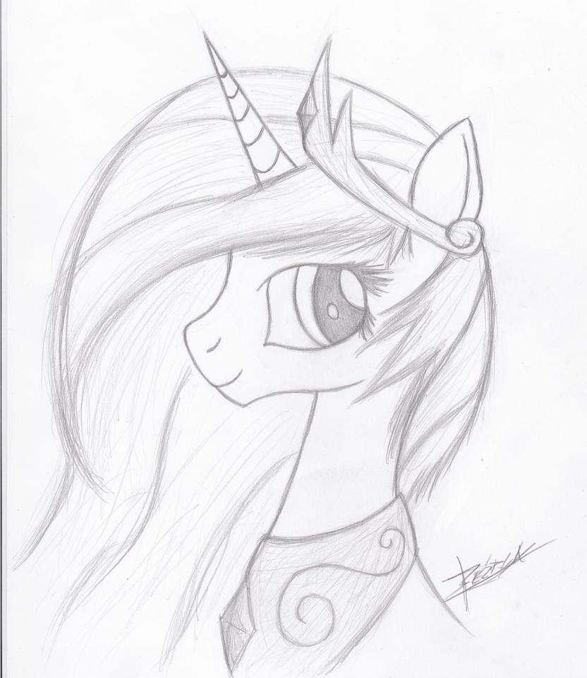 Princess Celestia Portrait by Xeirla