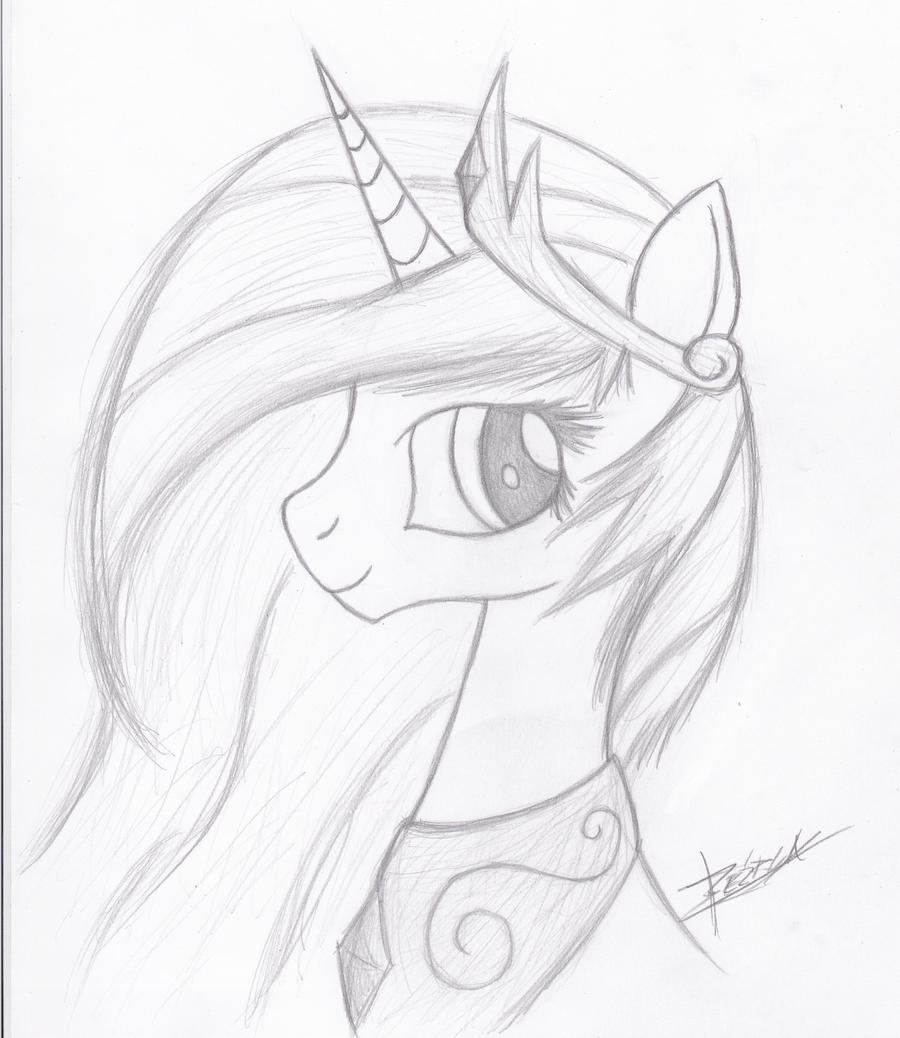 Princess Celestia Portrait by Xeirla