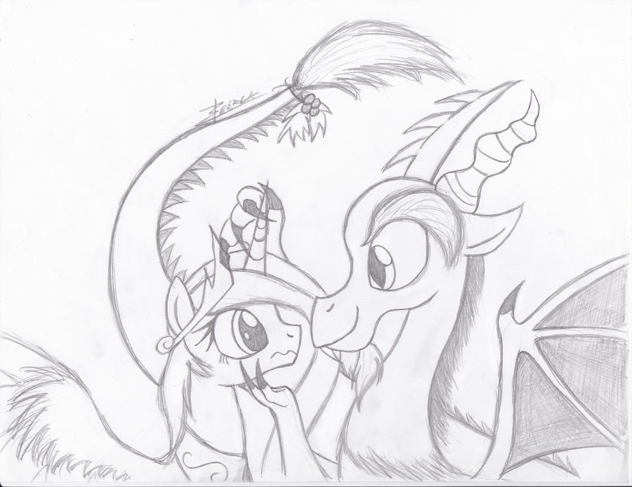 Hearths Warming 03 - Discord and Celestia by Xeirla