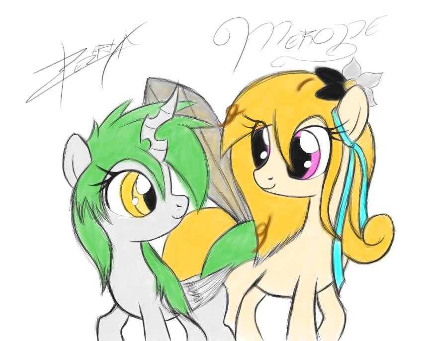 Xeirla and Merope by Xeirla