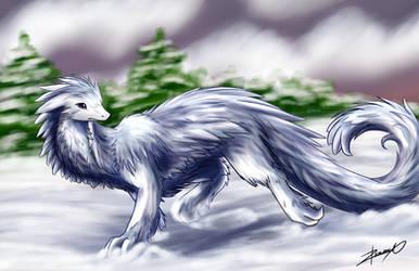 Snow Dragon by Xeirla