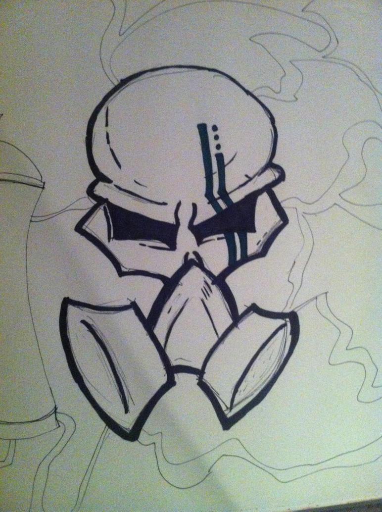 gas mask skull by Tspec-graffitiart on DeviantArt