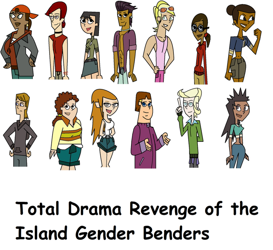 Total Drama Revenge of the Island Gender Benders by CardGamePhantom