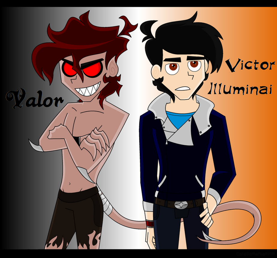 New Detailed DP OC- Victor Illuminai / Valor by CardGamePhantom