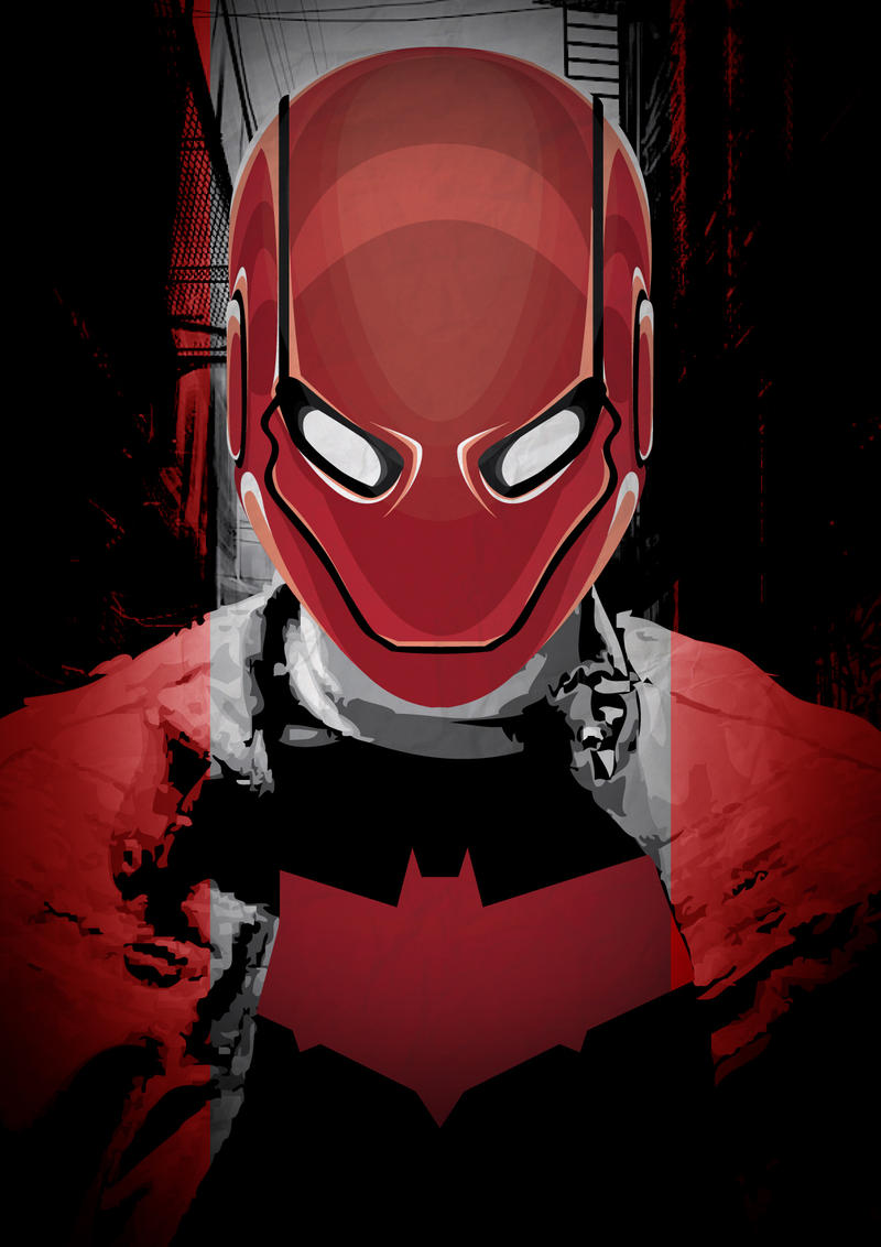 Under the red hood by blackcrow03 on deviantart - Hood cartoon wallpaper ...